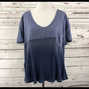 New! Free People Waffle Tee Size Small!